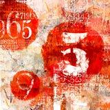 Numrerad abstrakt collage Stock Illustrationer