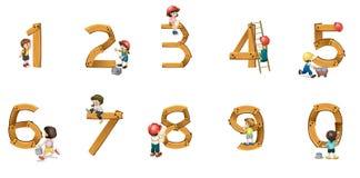 Numrerar stock illustrationer
