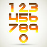 Numrerar fastställd design Arkivbilder