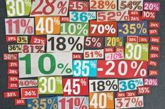 Numrerar och procentsatser Arkivfoton