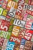 Numrerar och procentsatser Arkivfoto