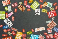 Numrerar och procentsatser Fotografering för Bildbyråer
