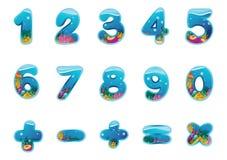 Numrerar och undertecknar Royaltyfria Foton