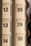 numrerar organisatören Arkivbild