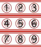 numrerar roterande tunneler Fotografering för Bildbyråer