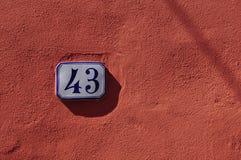 Numrerar serie Arkivbild