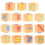 numrerar set symboler Royaltyfria Foton