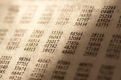 numrerar tabellen på måfå Arkivbilder