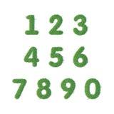 Numrerar text av grönt gräs vektor illustrationer