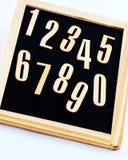 numrerar trä Fotografering för Bildbyråer