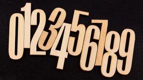 numrerar trä Royaltyfri Bild