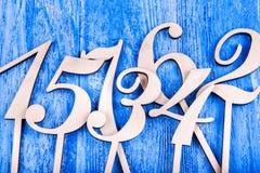 numrerar trä Royaltyfri Fotografi