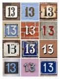 Numrerar tretton Arkivbilder