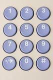 numrerat tangentbord royaltyfri illustrationer