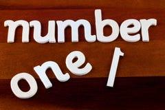 Numret ett Fotografering för Bildbyråer