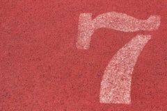 Numret som används för idrottsman nen Royaltyfri Fotografi
