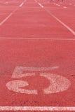 Numret som används för idrottsman nen Royaltyfria Foton