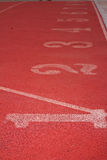 Numret som används för idrottsman nen Arkivbilder