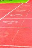 Numret som används för idrottsman nen Royaltyfri Foto