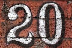 Numret tjugo - 20 Fotografering för Bildbyråer