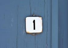 Numéro un Photos libres de droits