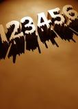 Numéros Photographie stock libre de droits