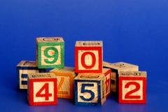 Numéros de bloc Photo libre de droits