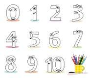 Numéros de dessin animé Image stock