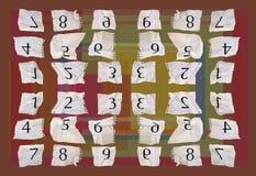 Numéros de papier de graphique Photo libre de droits