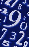 Numérote des caractères de chiffres des figures Photo libre de droits