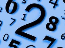 Numérote des caractères de chiffres des figures Photos libres de droits