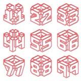 Numérote les matrices rouges Photographie stock