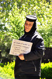 Nun begging help Royalty Free Stock Photos