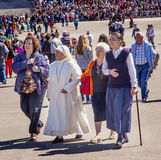 Nun Believers Pilgrims May 13 Celebration Fatima Portugal Stock Images