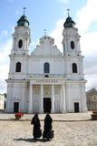 Nun in black. Two women ortodox religion, Poland Stock Photography