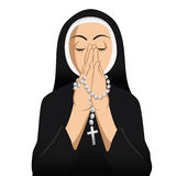 Nun Catholic praying Royalty Free Stock Photo