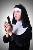 Nun with handgun  Stock Image