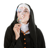 Nun having fun Royalty Free Stock Photos