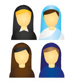 Nun icons vector Stock Image