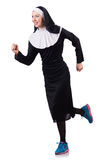 Nun isolated Royalty Free Stock Image