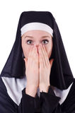 Nun isolated Royalty Free Stock Photo
