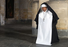 Nun kneeling Royalty Free Stock Images