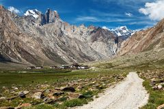 Nun Kun Range - Indian Himalayas. Trek from Kargil to Padum - Zanskar, Ladakh, Jammu and Kashmir, India Royalty Free Stock Photography