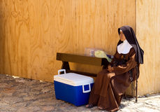 Nun in Mexico royalty free stock photography