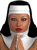 Nun portrait Royalty Free Stock Image