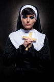 Nun praying Royalty Free Stock Images