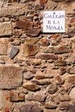 Nun's Alley. Callejon de la Monja - Nun's Alley.  Caceres, Spain Royalty Free Stock Photography