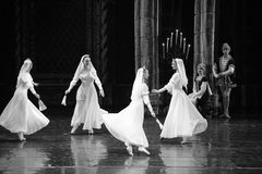 The nun's game-ballet Swan Lake Stock Images