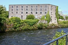 Nun`s Island Distillery, former warehouse, Galway, Ireland. View of the former Persse`s distillery, on Nun`s Island, Galway, west of Ireland royalty free stock photos