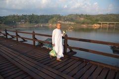 Nun at Sangkhlaburi Stock Photo